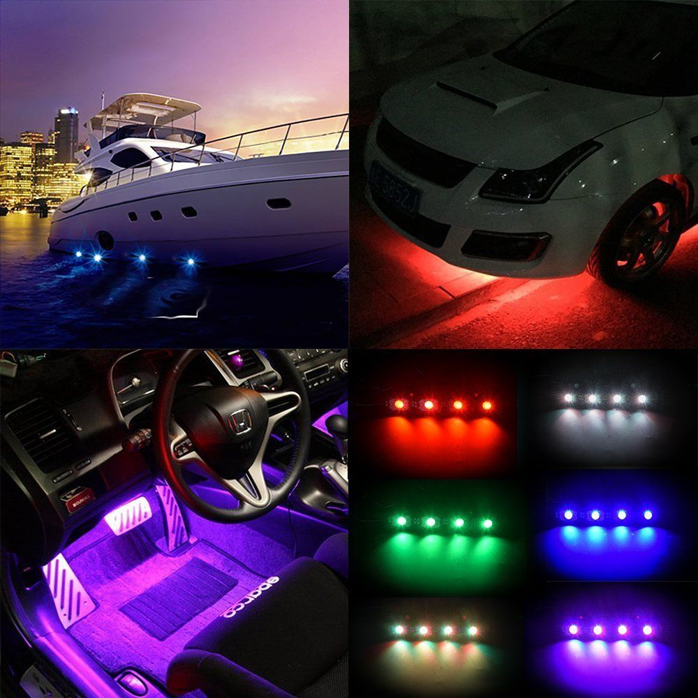 Led Rock Light Waterproof Off Road LED Rock Light Kit RGB 4 pods LED rock lights decorate light fits  sc 1 st  Pinterest & Pin by Julie on Bluetooth control 9W RGB color change LED rock ... azcodes.com