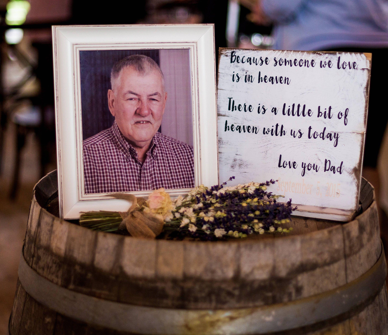 Reception Ceremony Burial: Wedding Memorial Rustic Wedding Sign