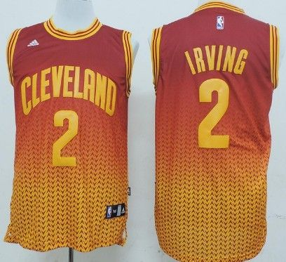 quality design 7b325 b1f68 Cleveland Cavaliers #2 Kyrie Irving Red/Yellow Resonate ...