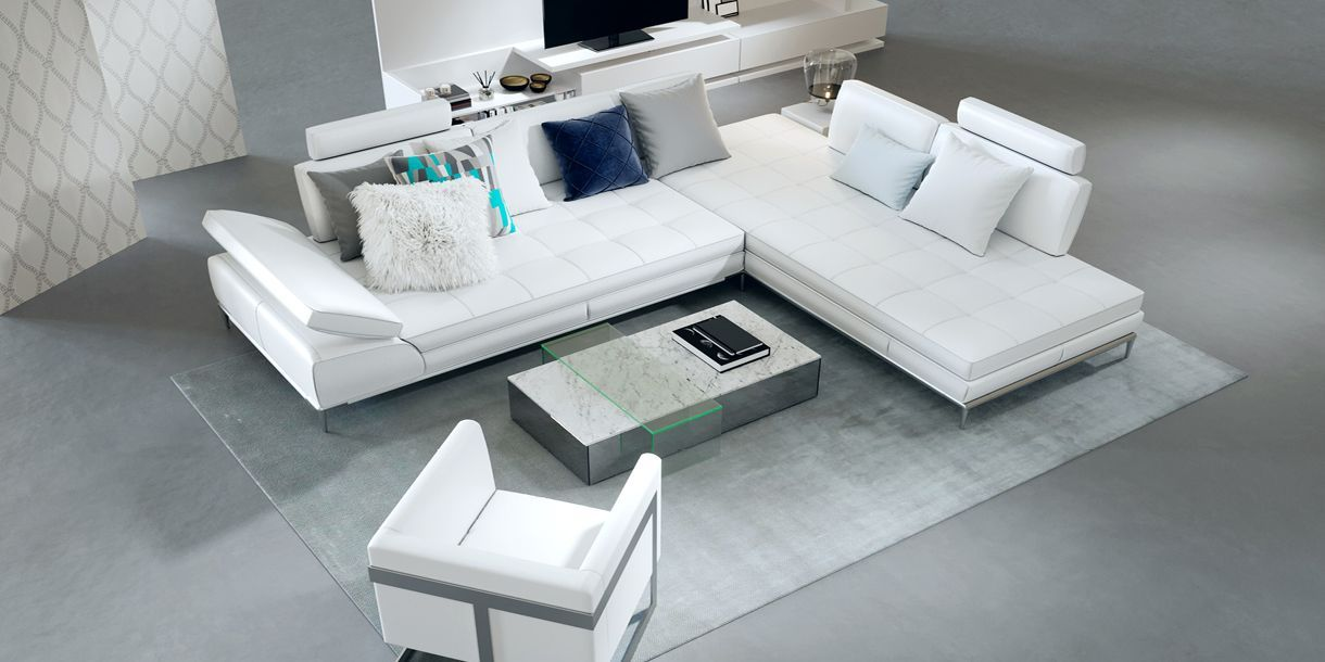 Empire White Sofa Right Small Space Interior Design White Sectional Sofa Modern White Sofa