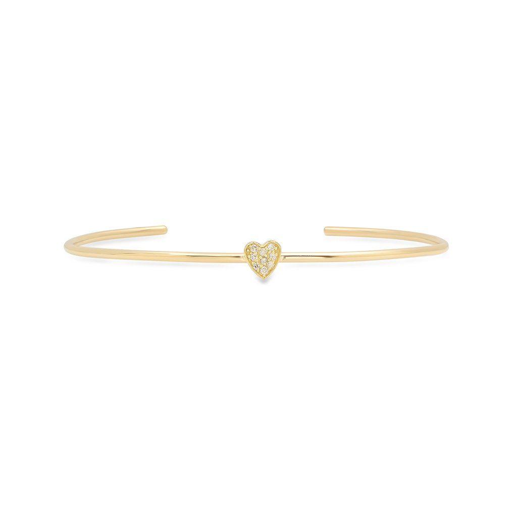 a6db3f16f21b4b Diamond Mini Heart Cuff in 2019   ALCHEMIST   Mini heart, Diamond ...