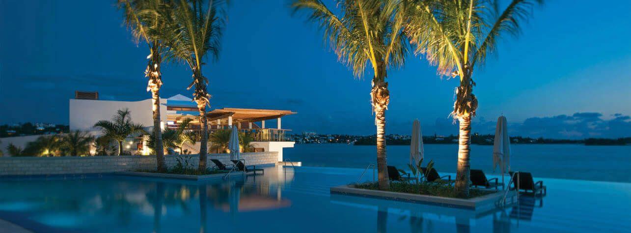 Night time pool hamilton princess hotel bermuda