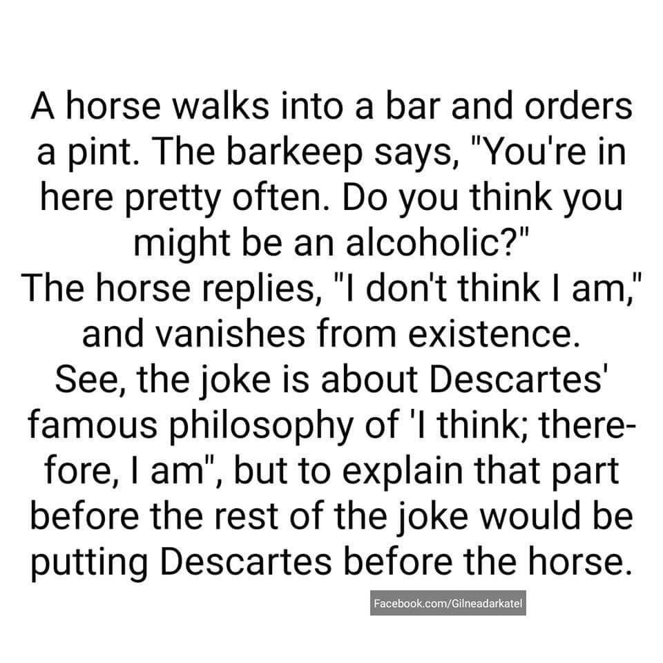 Descartes Philosophy Memes Good Jokes Sayings