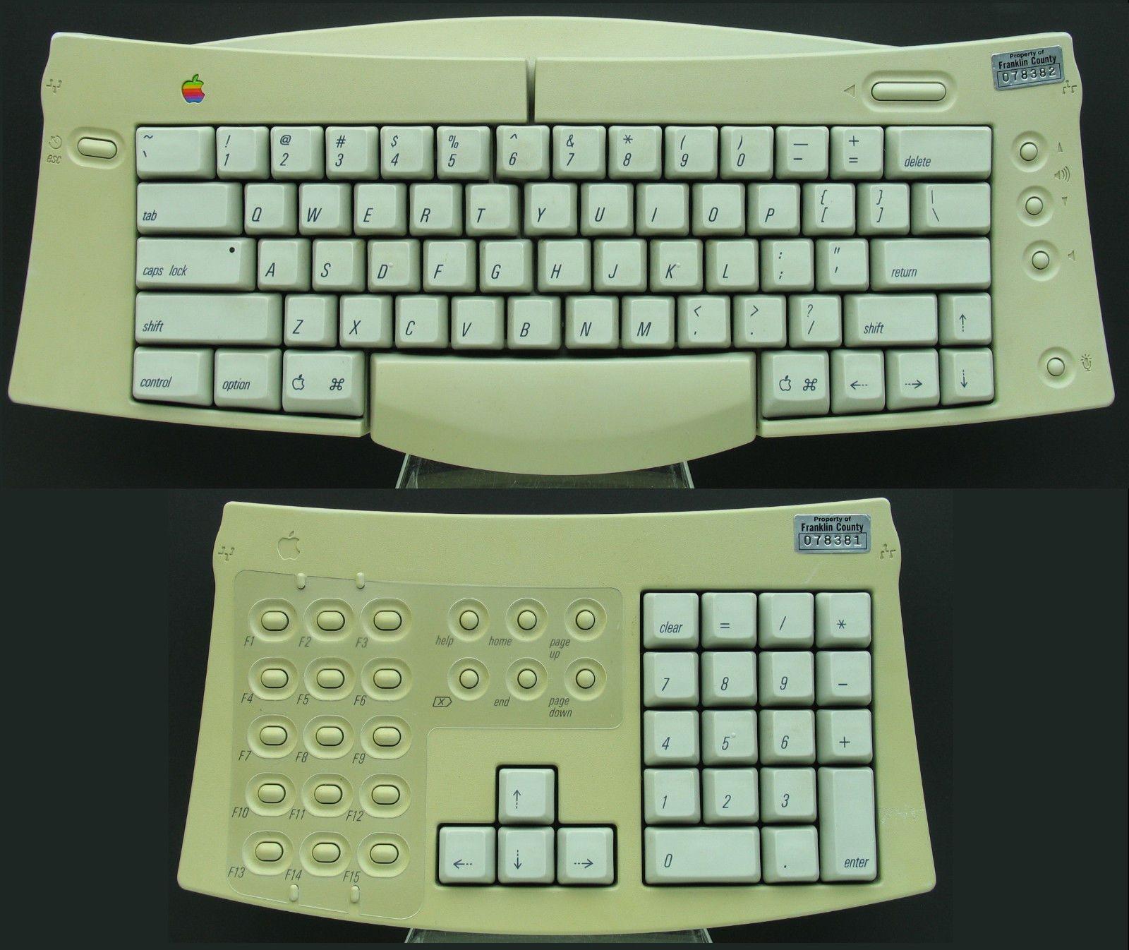 Apple Mac Macintosh Adjustable Keyboard Ergo Ergonomic Keypad M1242 Apple Mac Apple Keyboard