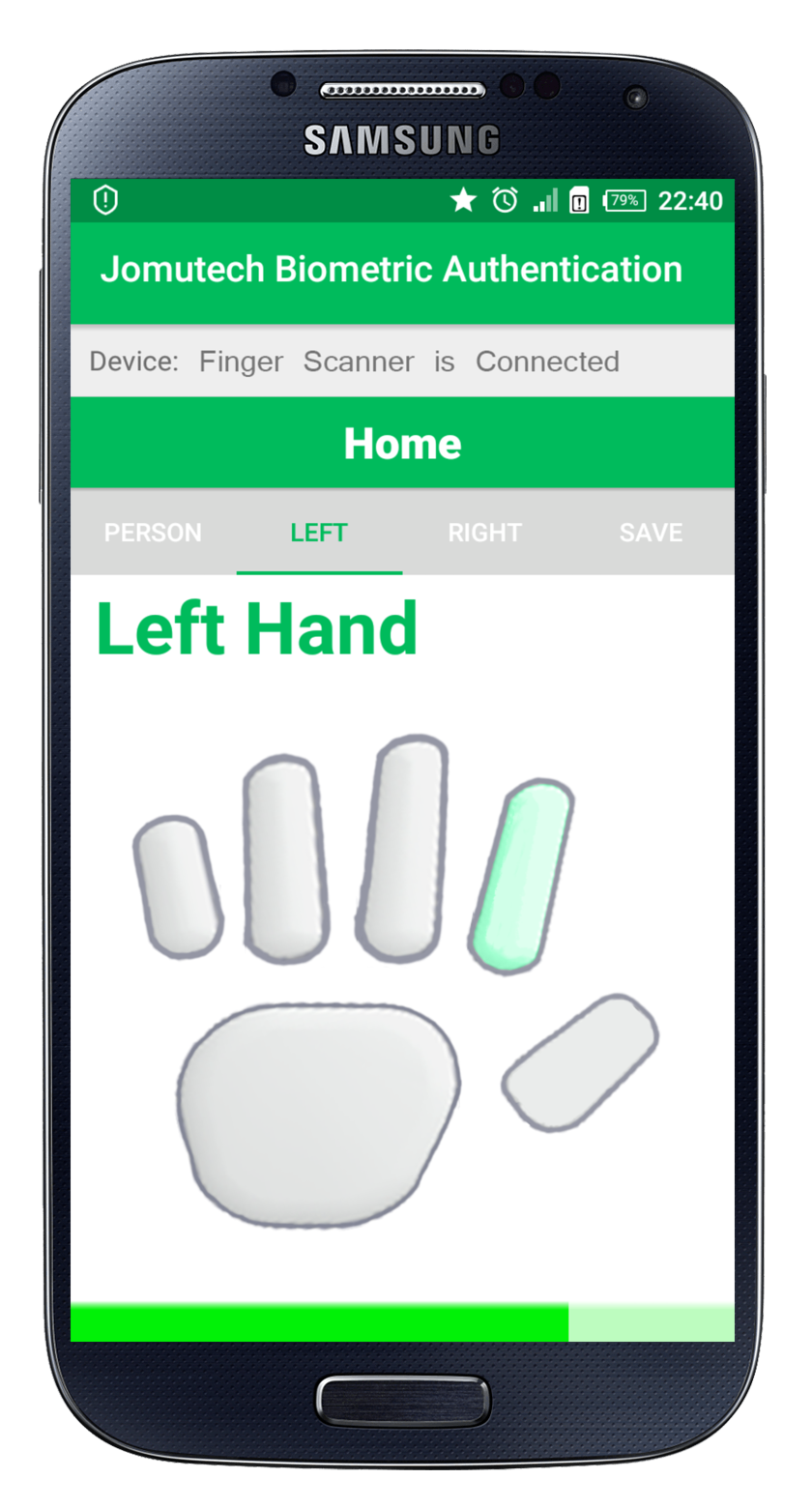 Android Biometric Fingerprint Authentication Left Hand While