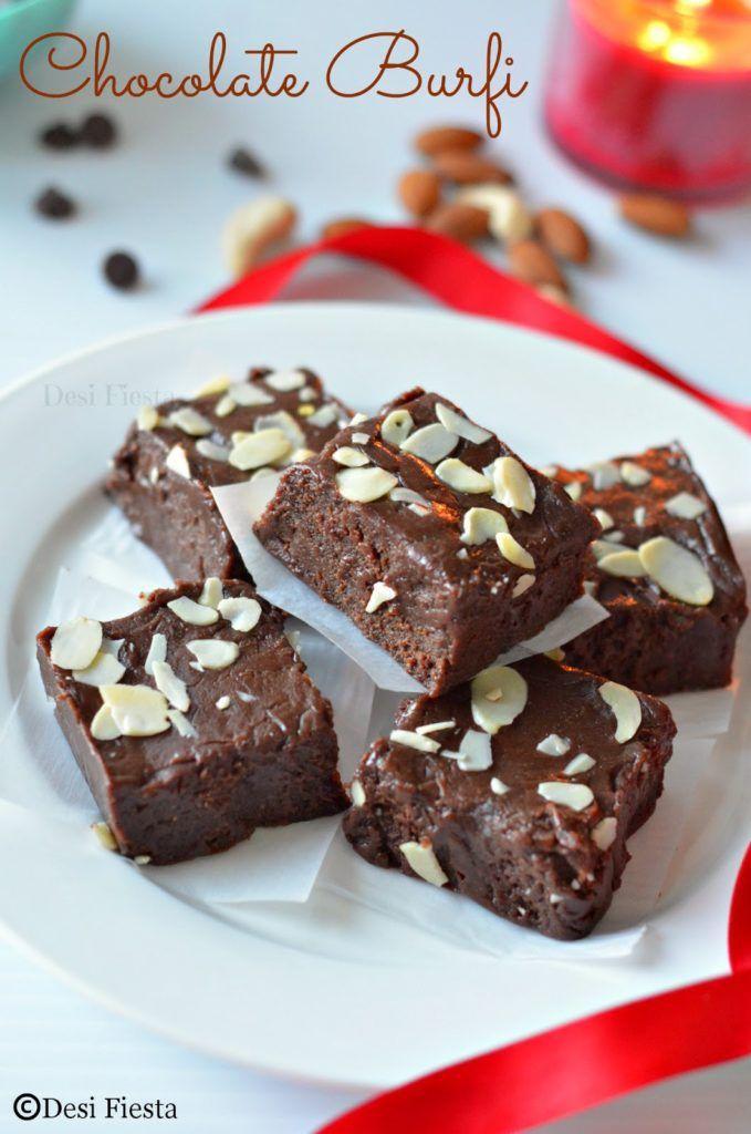Chocolate Burfi Chocolate Burfi Sweet Snacks Desserts