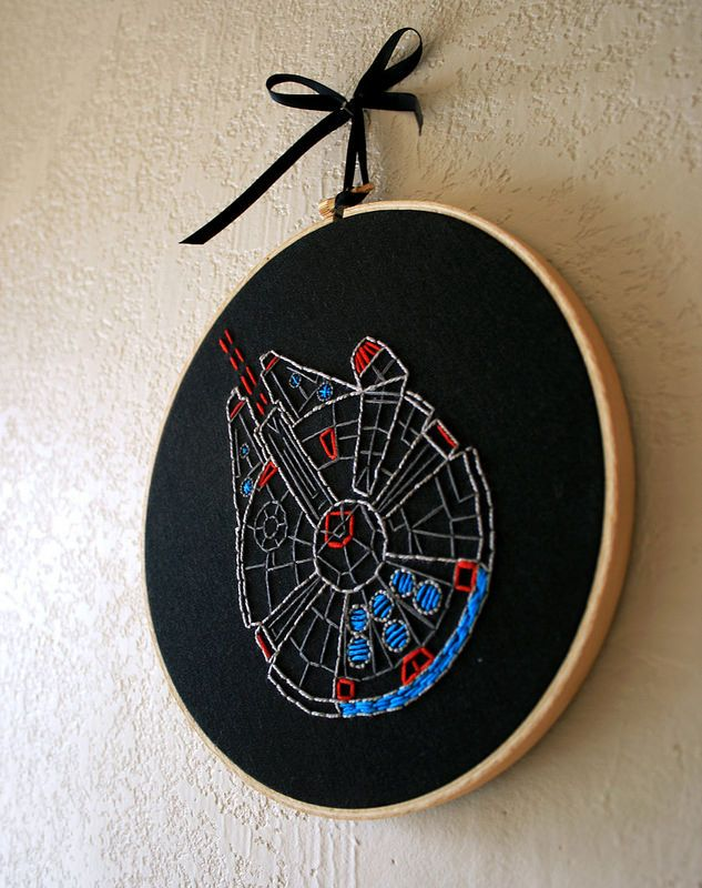 No Fabric Star Wars Millennium Falcon K383 Counted Cross Stitch Pattern Hoops Embroidery Pattern 4 Printed Schemes Inside Threads Needles