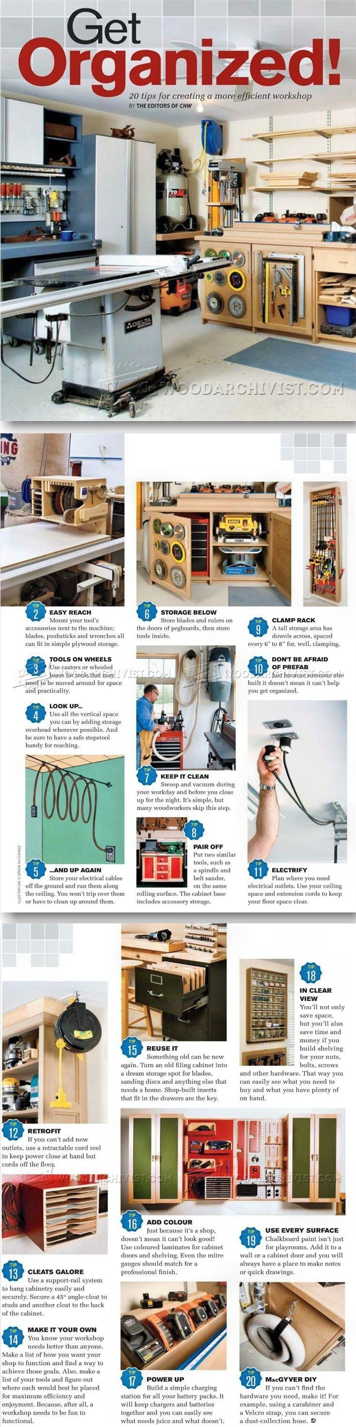 20 Tips for Creating a More Efficient | Create, Woodworking and ...