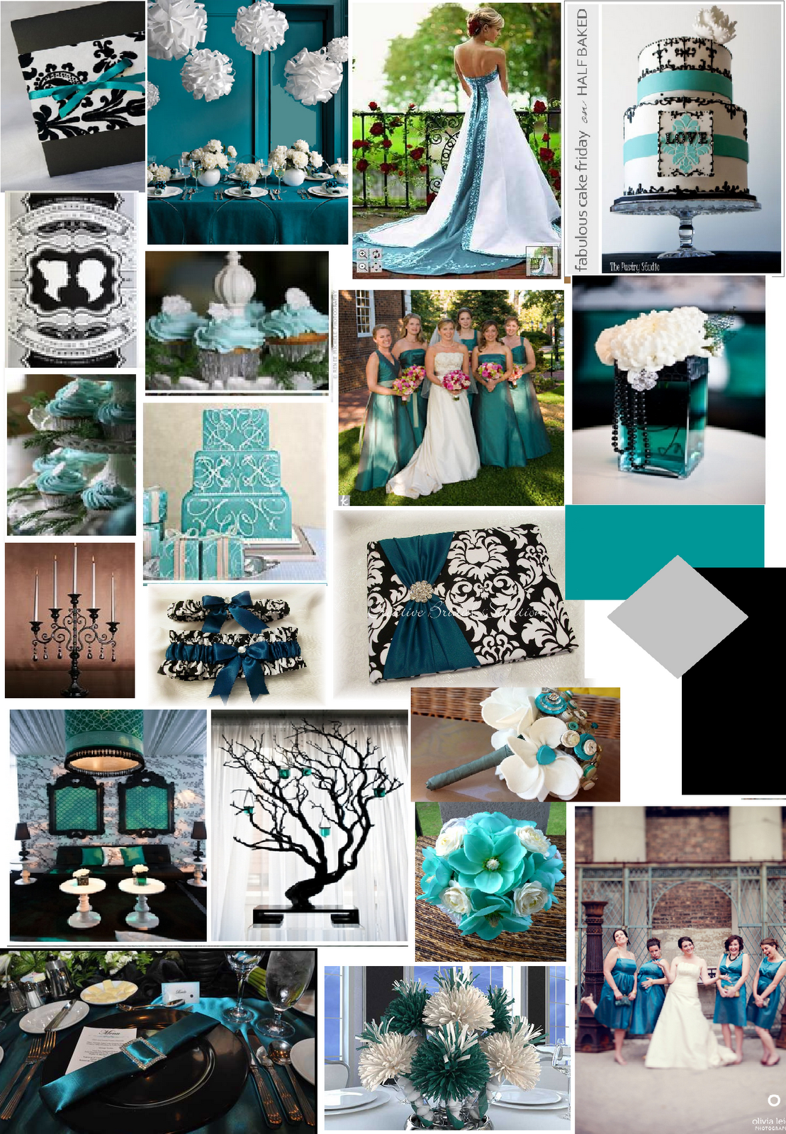teal and silver wedding | rhodeshia's blog: teal and silver