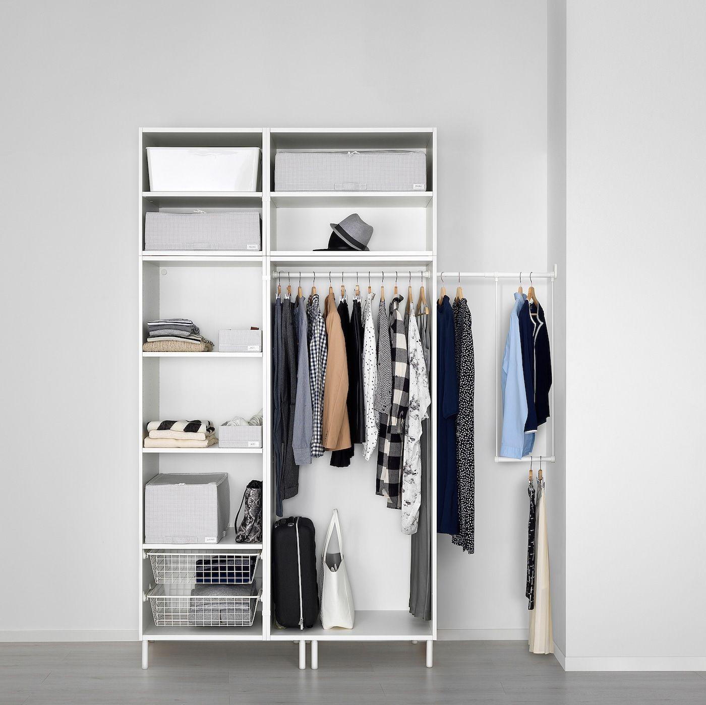 Platsa Armoire Penderie Blanc Fonnes Blanc 175 200x57x251 Cm Ikea En 2020 Armoire Penderie Penderie Armoire