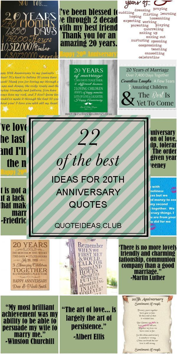 22 Of the Best Ideas for 20th Anniversary Quotes