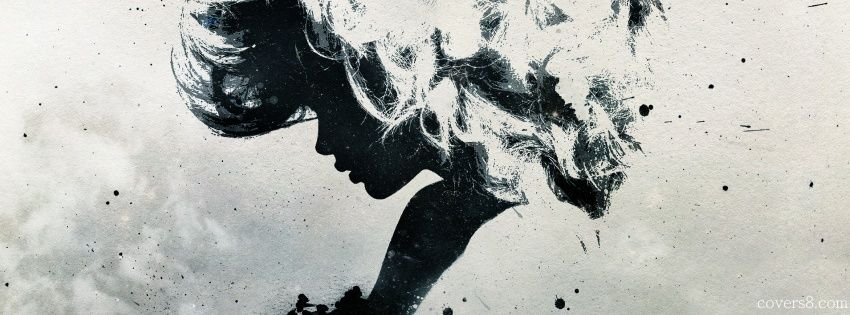 Girl Silhouette Face Abstract Art | Facebook Cover for Timeline ...