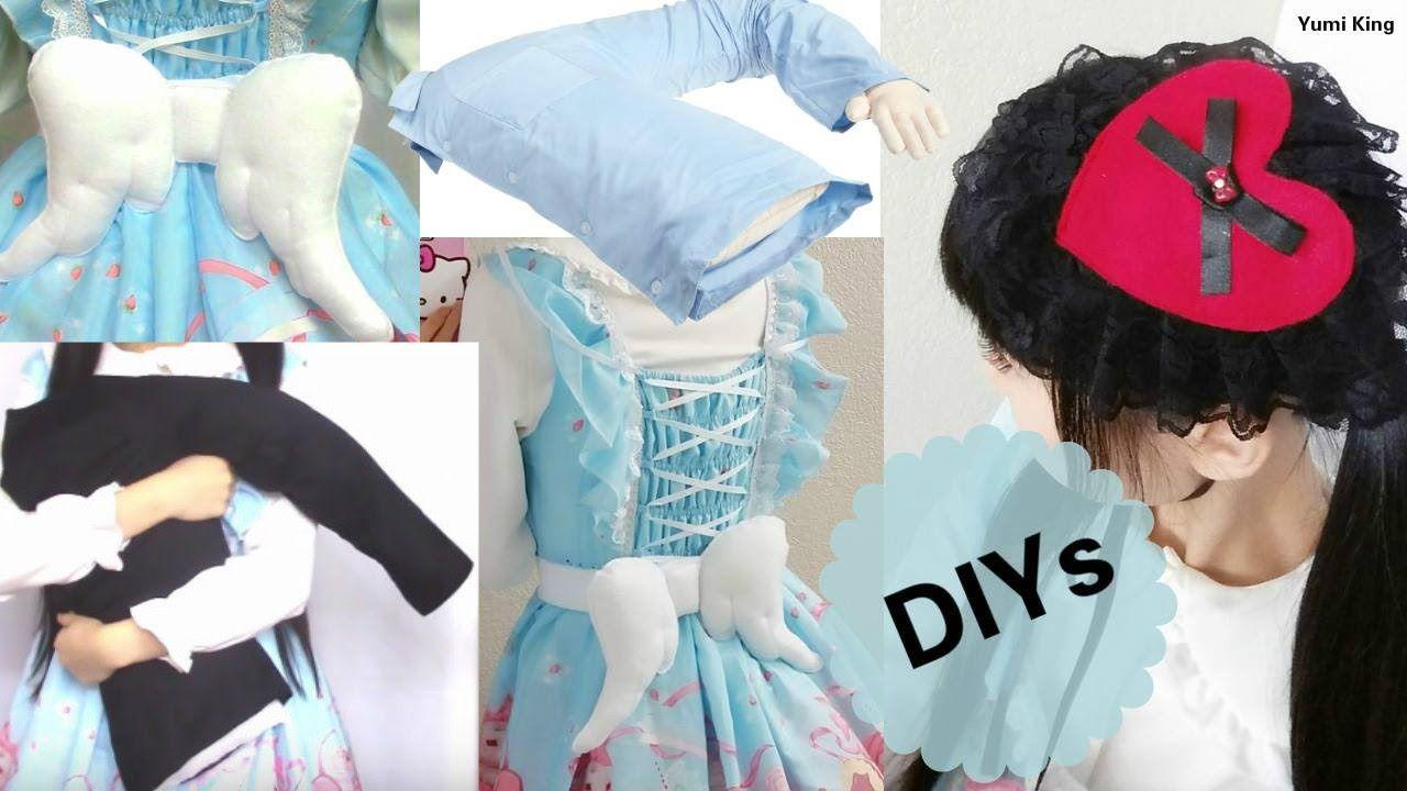 3 Cute&Creative DIYs: DIY Boyfriend Pillow + DIY Wing Belt + DIY Gothic ...