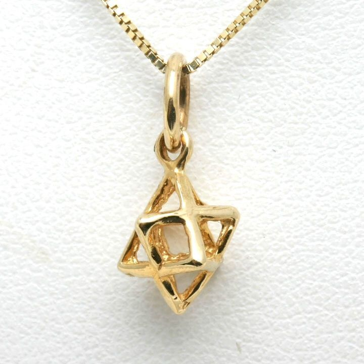 14k Yellow Gold Jewish Pendant Merkava Small frosting Pinterest