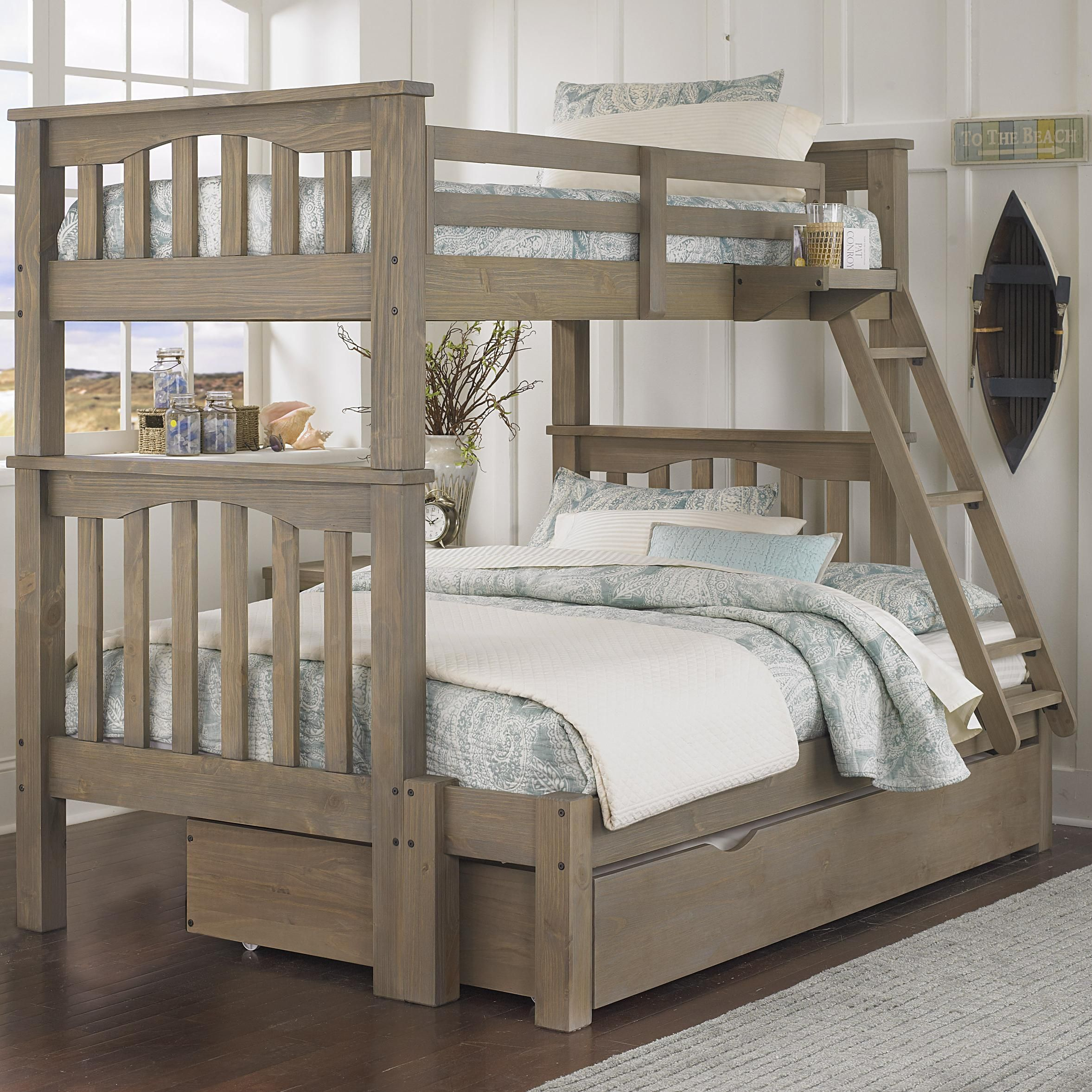 Best Ne Kids Highlands Mission Style Twin Over Full Harper Bunk 400 x 300