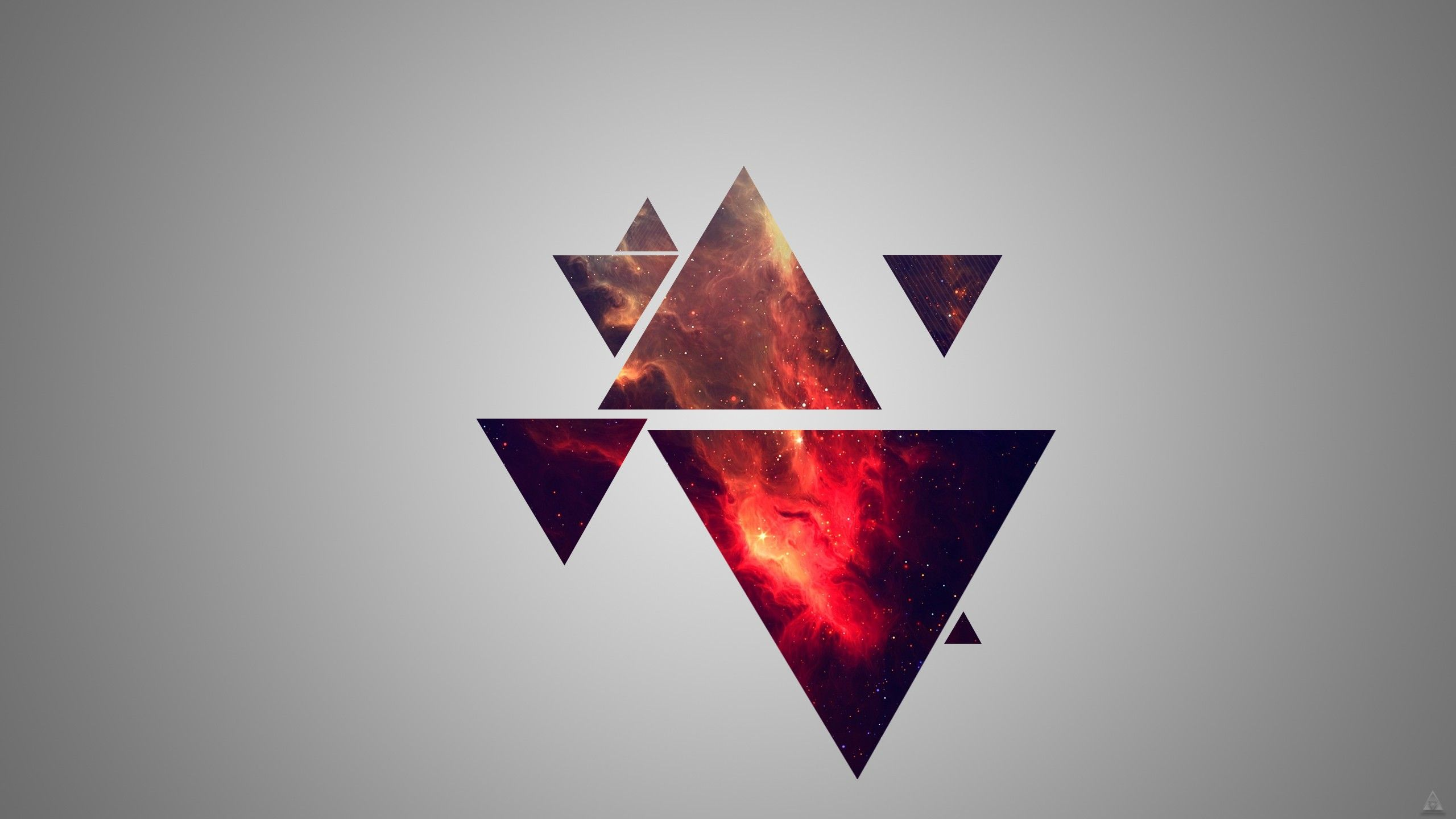 Red Galaxy Triangles [2560 x 1440] | ·Wallpapers ... Hipster Triangle Galaxy Wallpaper