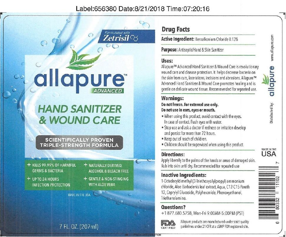 Allapure Advanced Formula Hand Sanitizer Liquid Allapure Llc