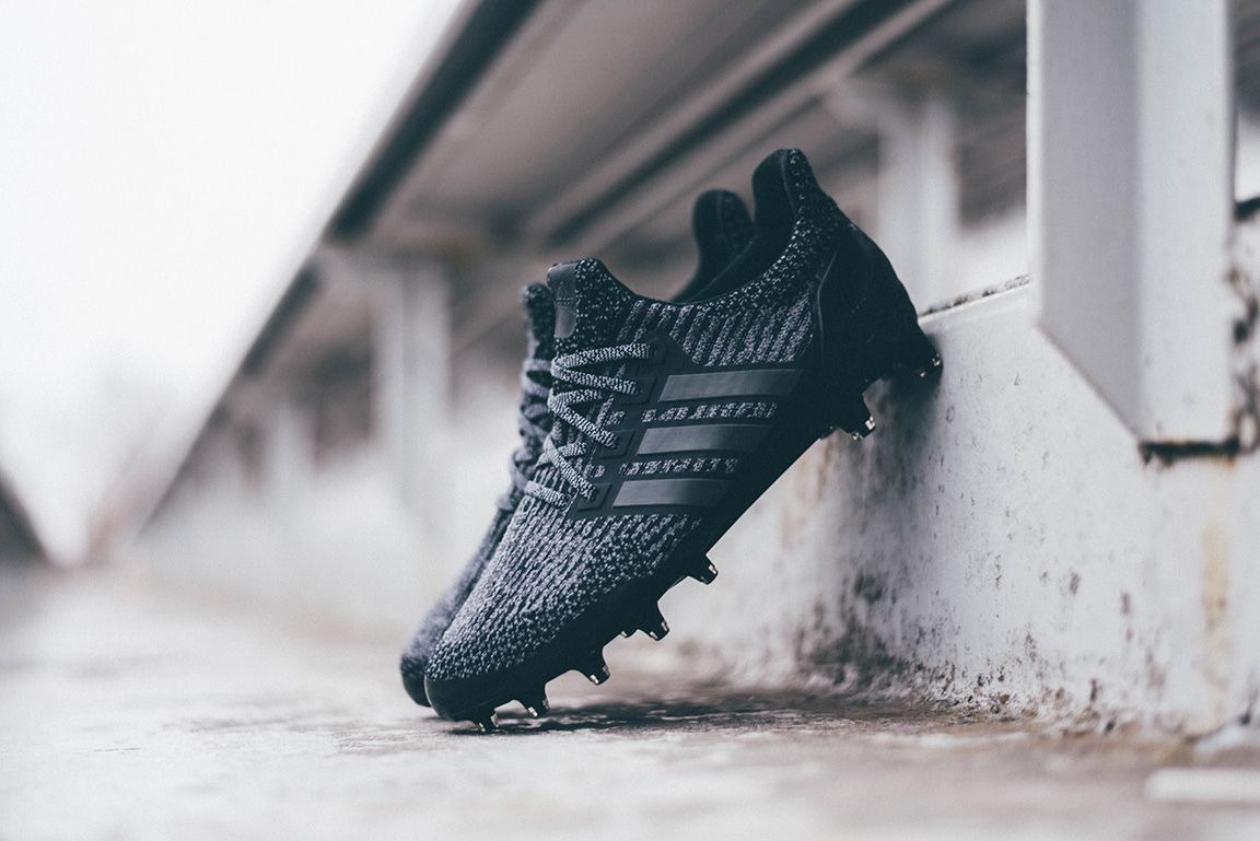 Adidas Ultraboost Cleat Triple Black On Foot On Turf Eu Kicks Sneaker Magazine Adidas Boots Adidas Cleats Adidas Ultra Boost