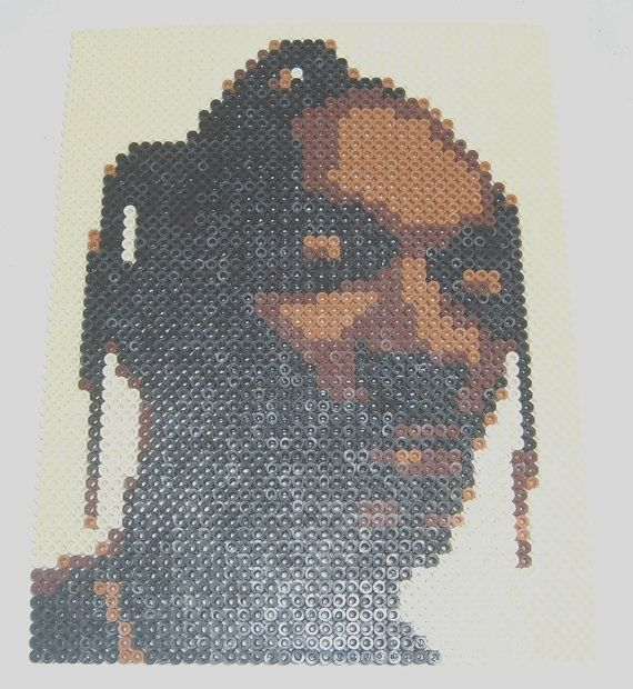 Perler Bead Portrait SNOOP DOGG by MostFavoriteAunt on Etsy