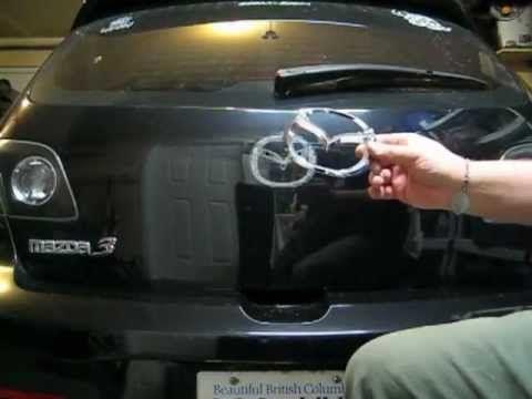 How To Remove The Mazda 3 Rear Emblem Mazda Mazda 3 Youtube