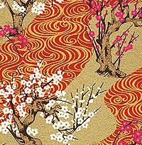 Chiyogami Paper- Pink & White Cherry Blossoms