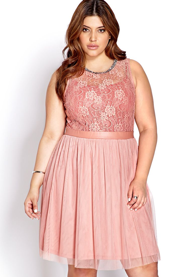 Party Hour Lace & Tulle Dress | FOREVER21 PLUS - 2040495334 ...