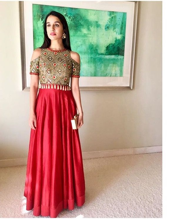 d19d2e21e2 Shraddha Kapoor # Arpita Mehta # cold shoulder # lehenga | Indian ...