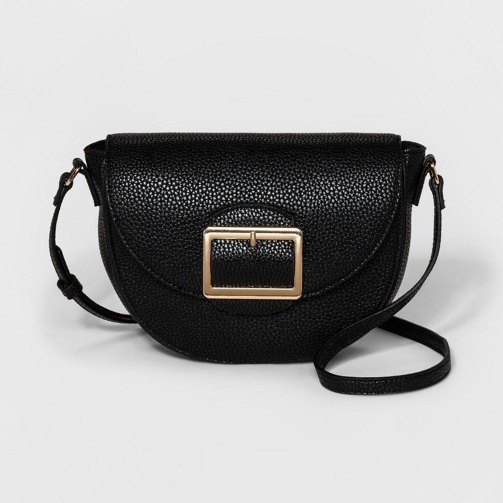 dc32e4bbb5 Buckle Half Moon Crossbody Bag - A New Day Black   Products ...