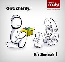 Give chartiy. It's Sunnah