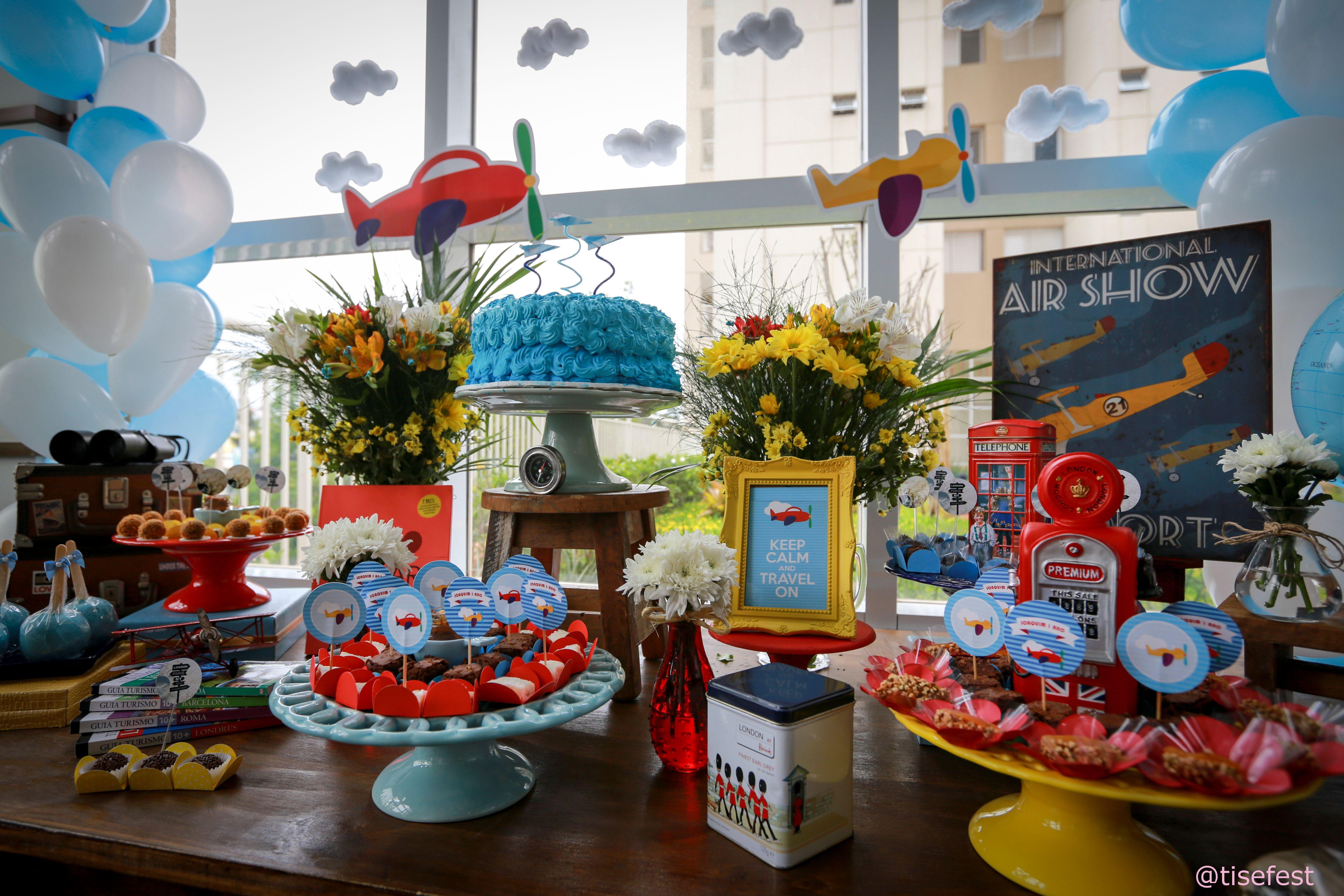 decoração festa viagem - Pesquisa Google