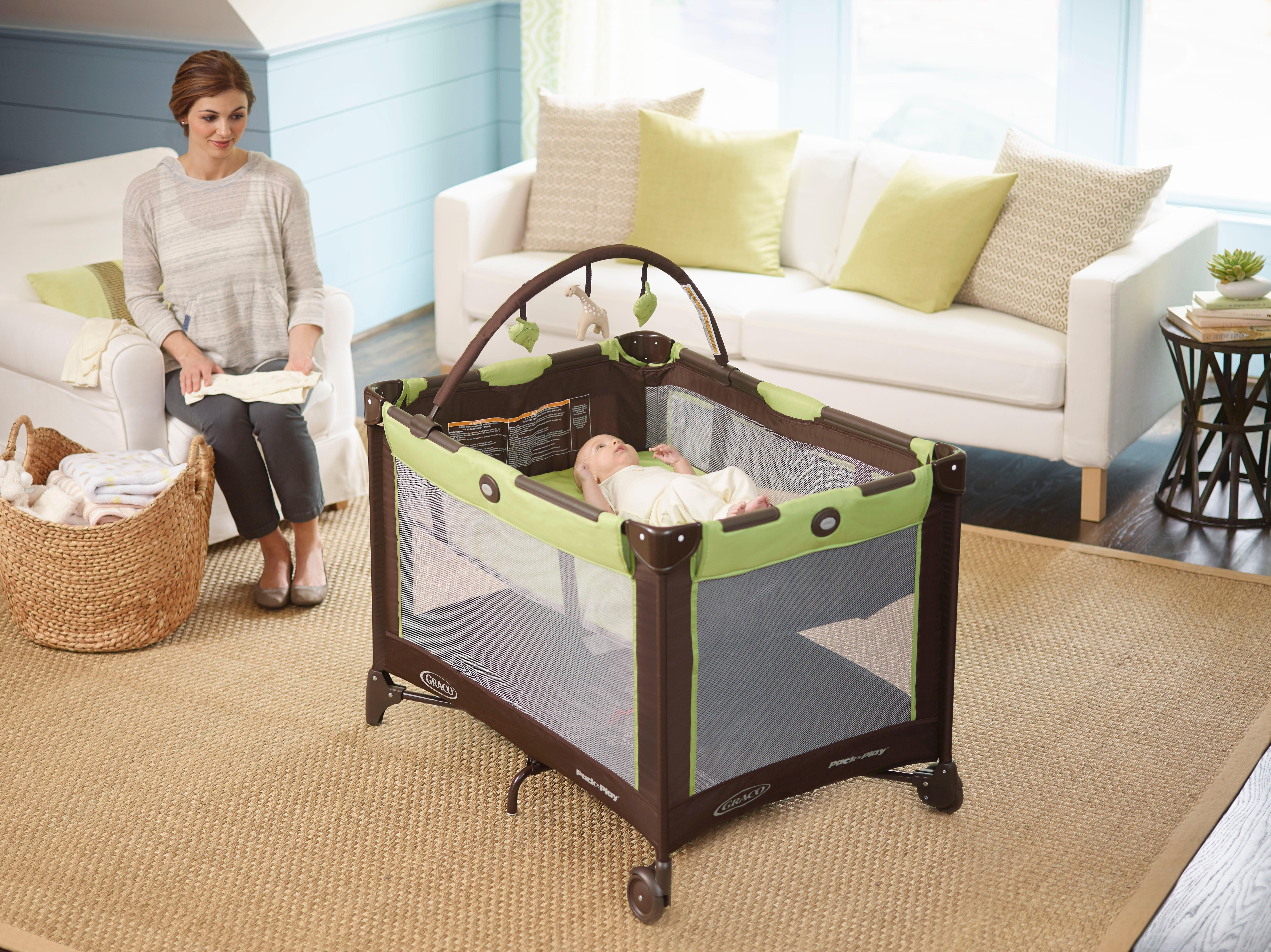 graco bedroom bassinet portable crib. amazon.com : graco pack n play playard bassinet with automatic folding feet, pasadena bedroom portable crib r