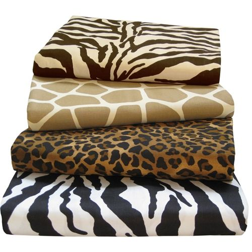 Bon Cheetah Print Satin Sheets Queen Size | ... Adams Egyptian Comfort Safari Bed  Sheets