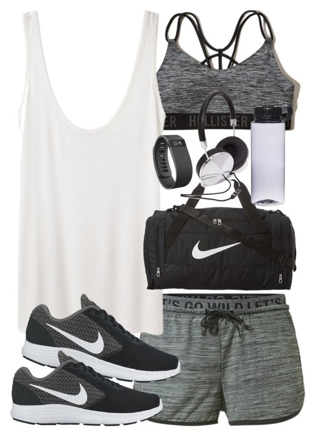 9b37d77605b74 Outfit for the gym with shorts and a sports bra by ferned on Polyvore  featuring MANGO