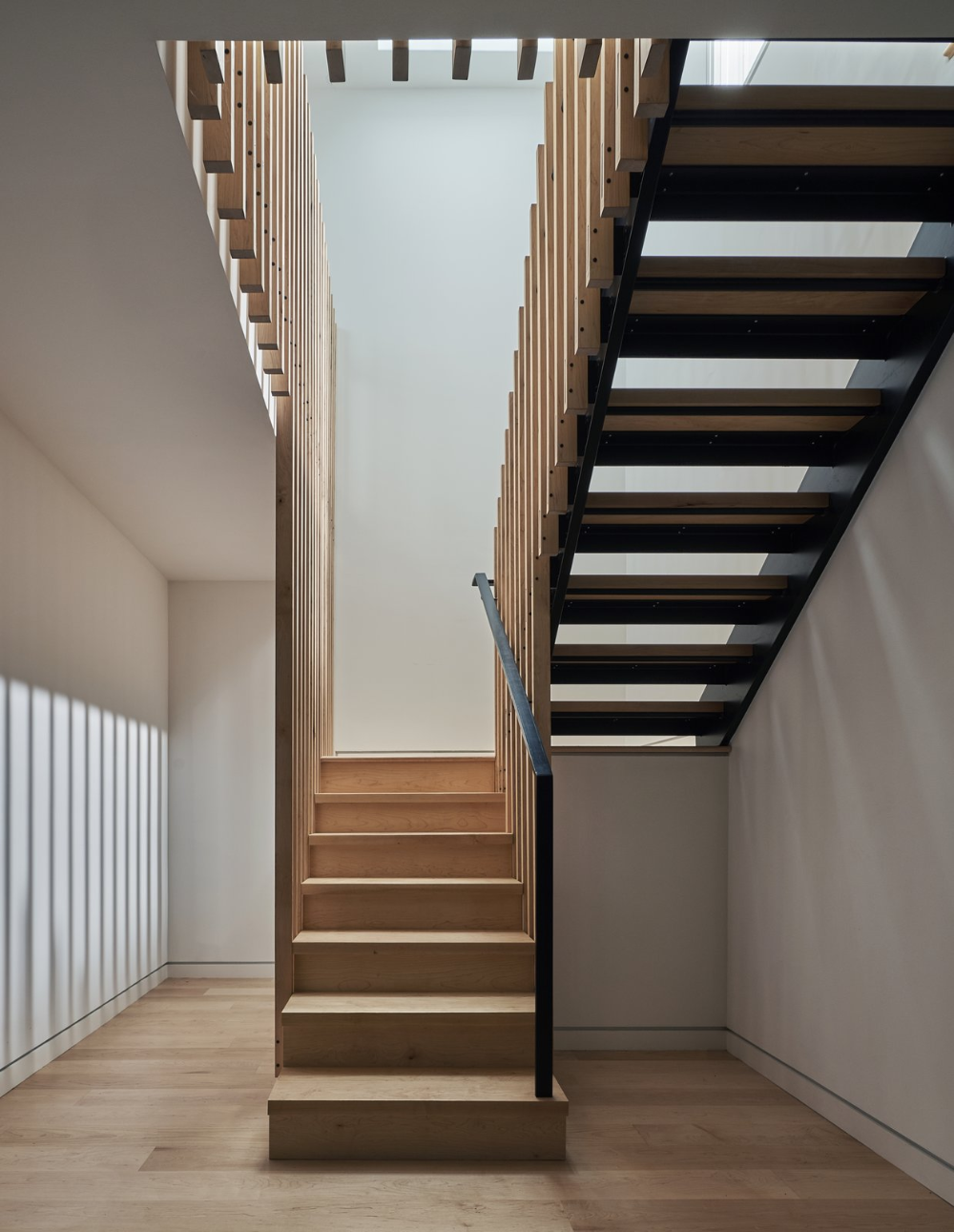 Photo 9 Of 11 In A Minimalist Scandinavian Style Home Rises On A Scandinavian Style Home Stairs Stairs Design