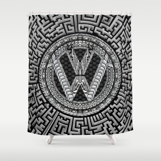 Aztec vw volkswagen sign Shower Curtain @society6 #showercurtain #artprint #artdesign #frameart #artprinting #aztec #car #logo #jeep #bmw
