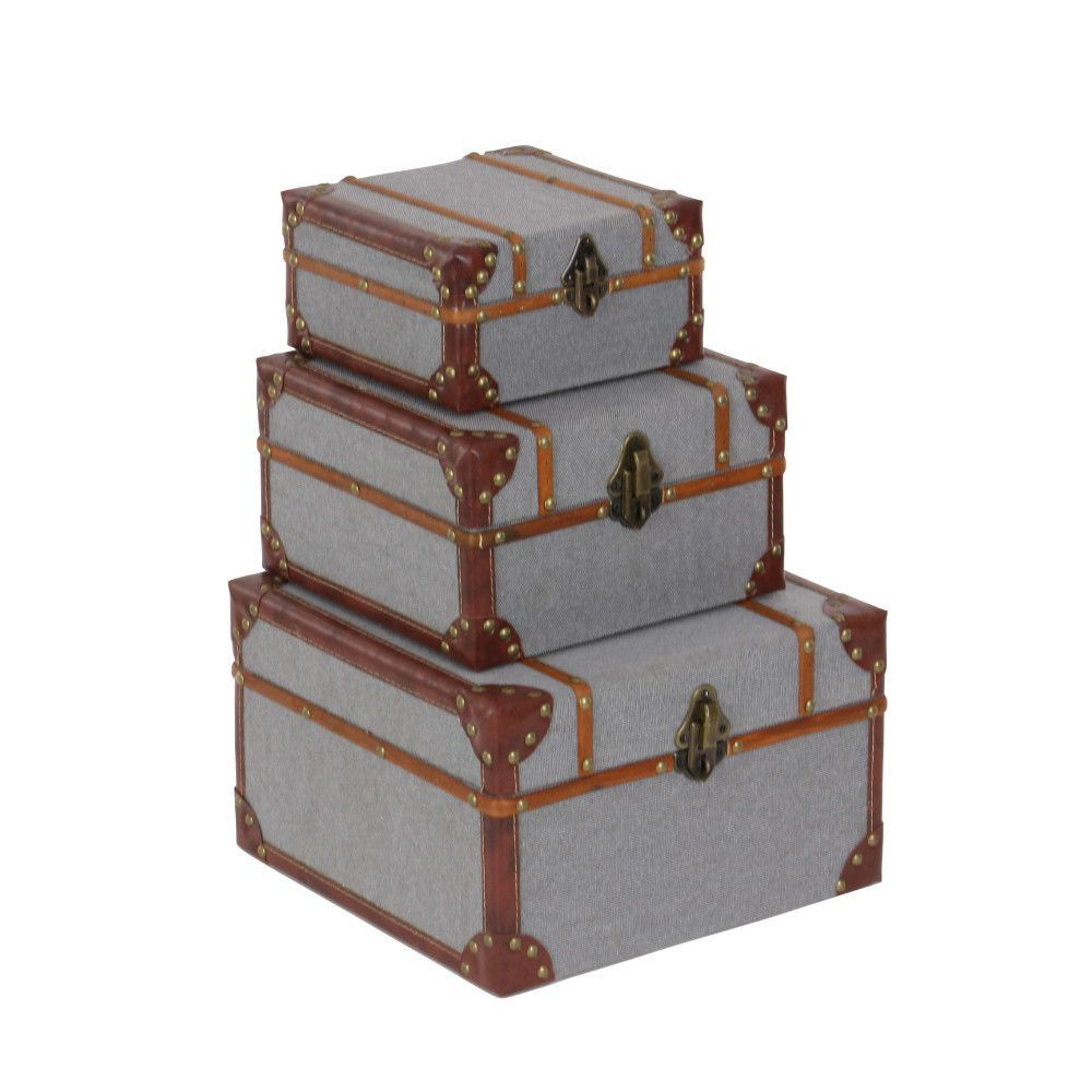 piece noah wood fabric boxes set products pinterest box sets