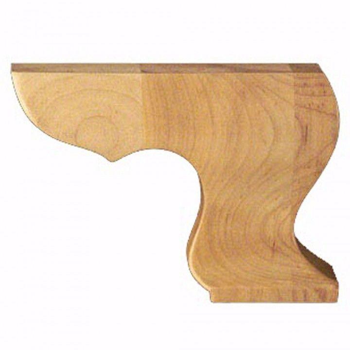 Plain Hampton Right Carved Bun Foot