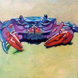 Sea crab by resident artist Nancy Stark