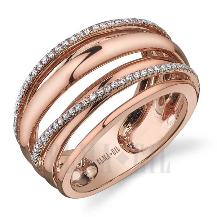 Elma Gil DR404 18k Rose Gold Fashion Jewelry Pinterest Rose