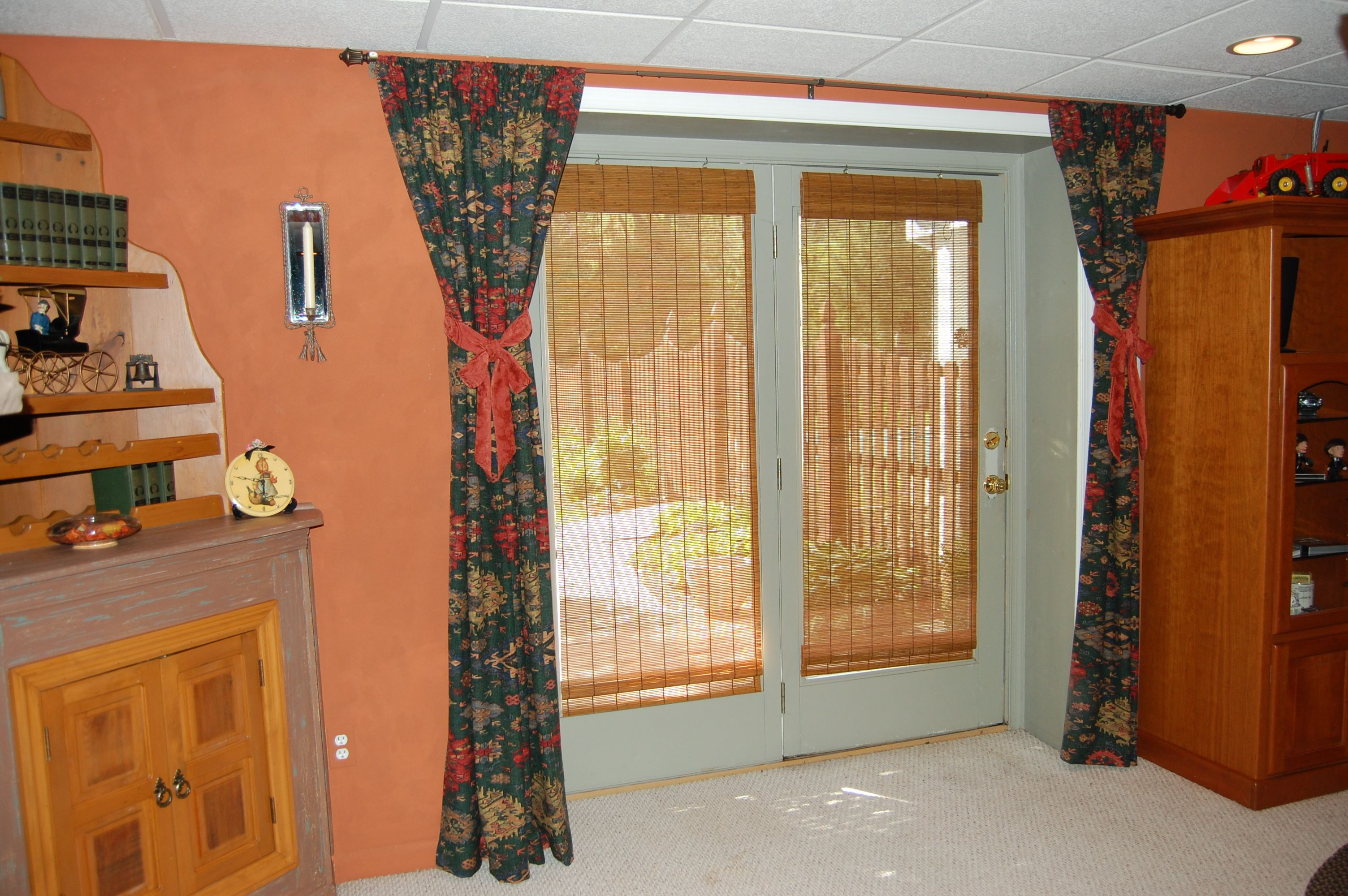 Repurposed Old Ralph Lauren Curtains Into Panels For Media