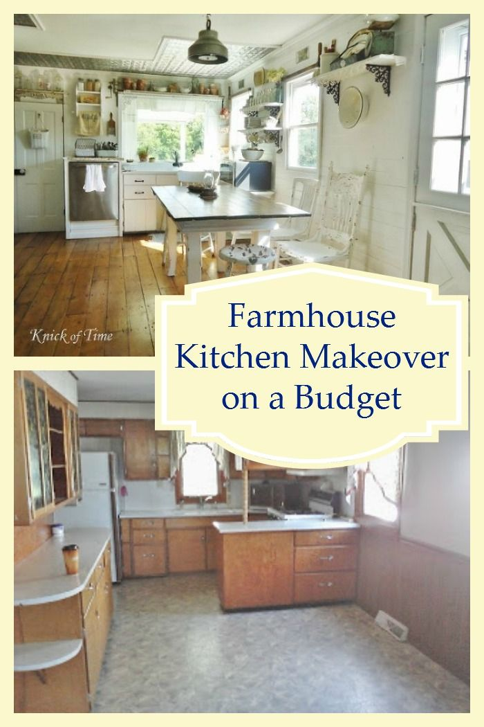 Budget farmhouse kitchen remodel farmhouse kitchens for Renovate a kitchen on a budget