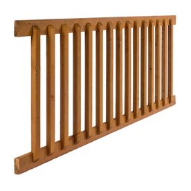 Severe Weather Assembled 6 Ft X 2 75 Ft Brown Pressure Treated Deck Rail Kit With Balusters 476231 In 2020 Wood Deck Railing Wood Deck Pressure Treated Deck