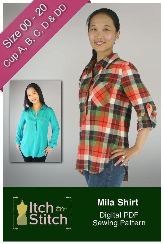 Mila Shirt Digital Sewing Pattern (PDF