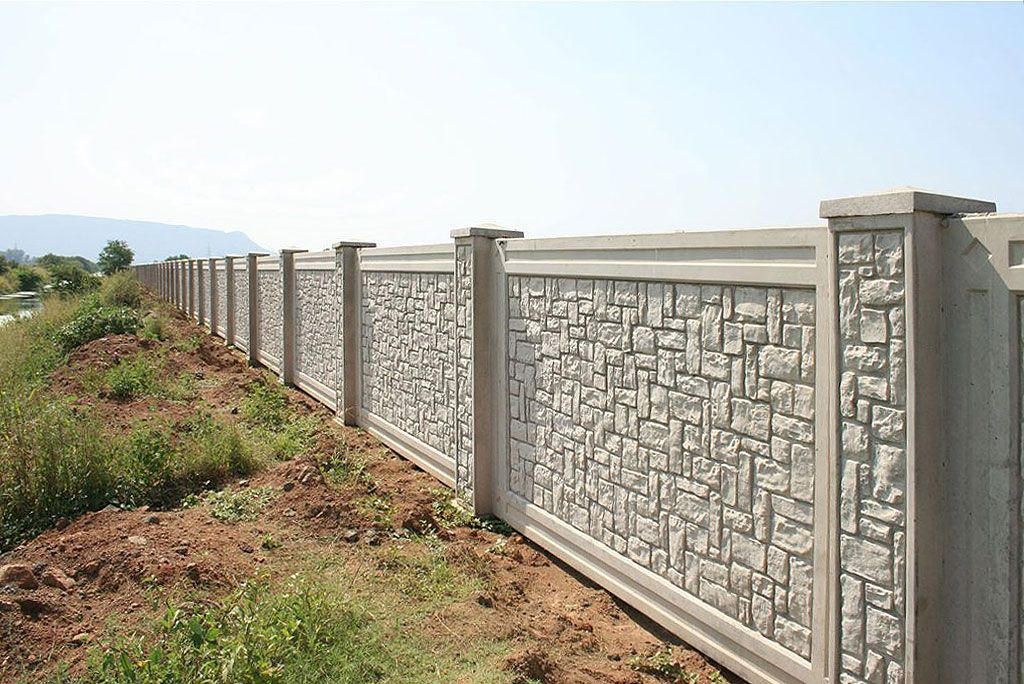 Boundary And Perimeter Walls Get Precast Concrete Forming Systems Aftec Llc In 2020 Compound Wall Design Fence Wall Design Exterior Wall Design