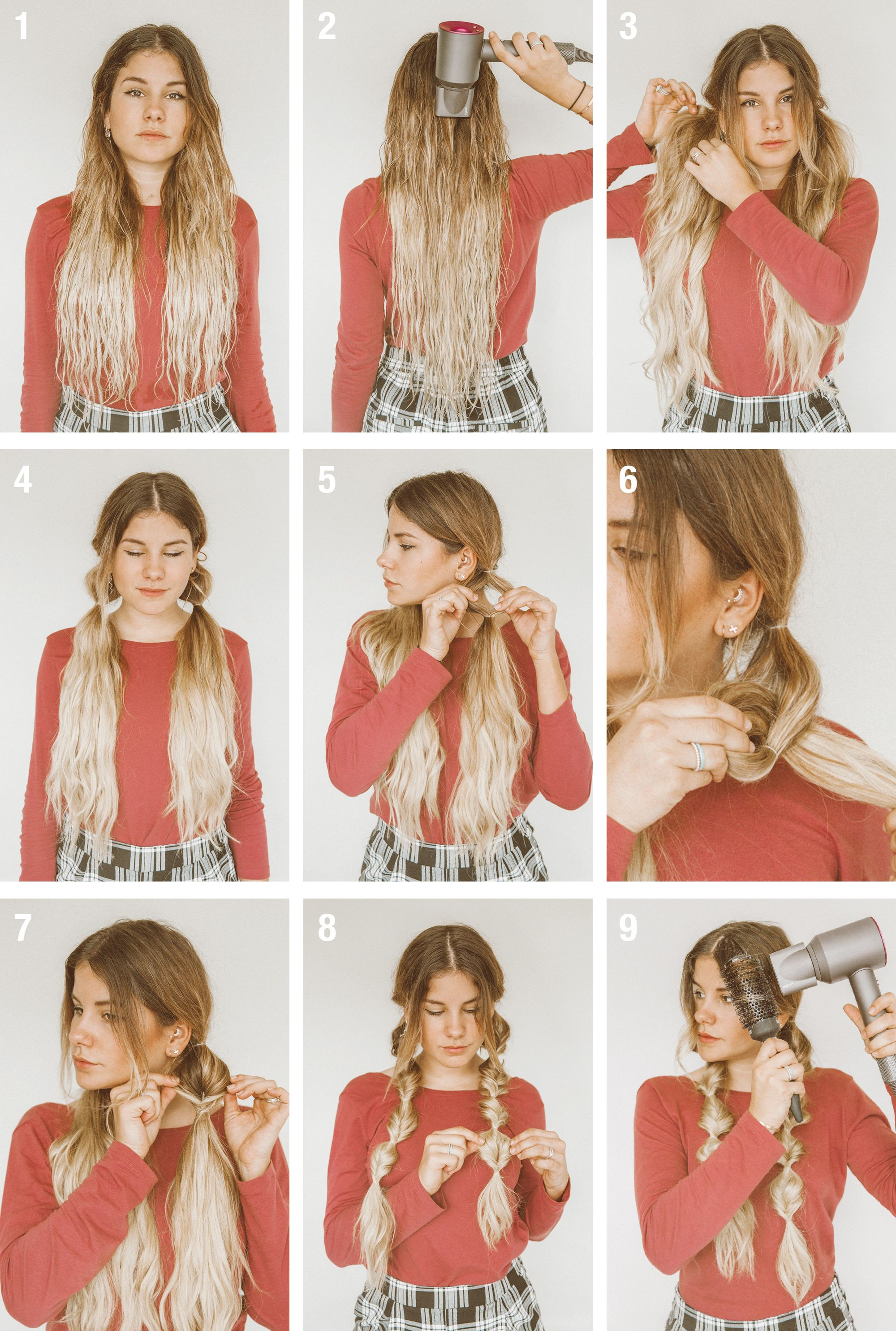 Tutorial Winter Hairstyle With Beanie Winter Hairstyles Work Hairstyles Long Hair Styles