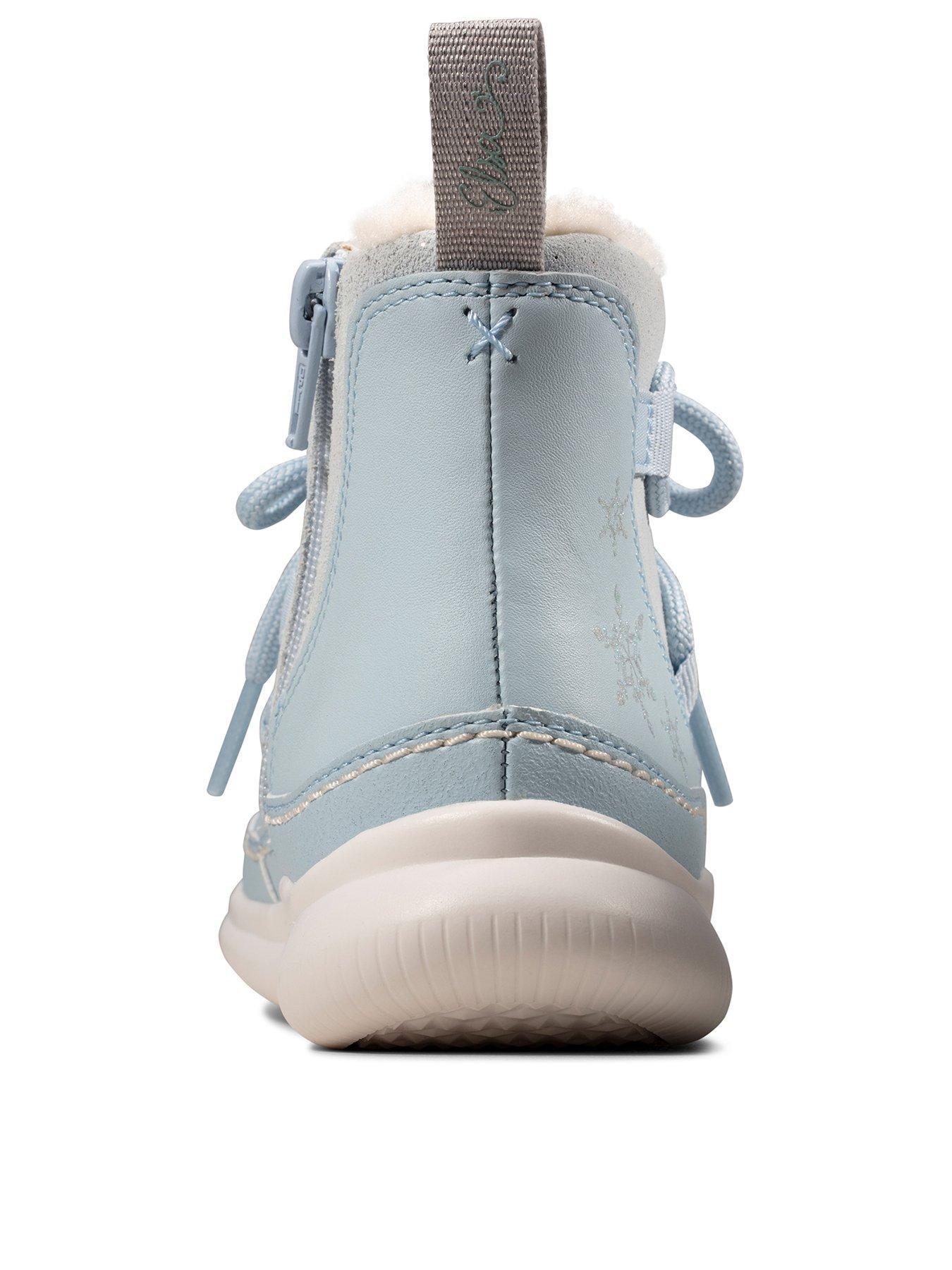 Clarks X Frozen Cloud Throne Boot Blue, Blue, Size Blue