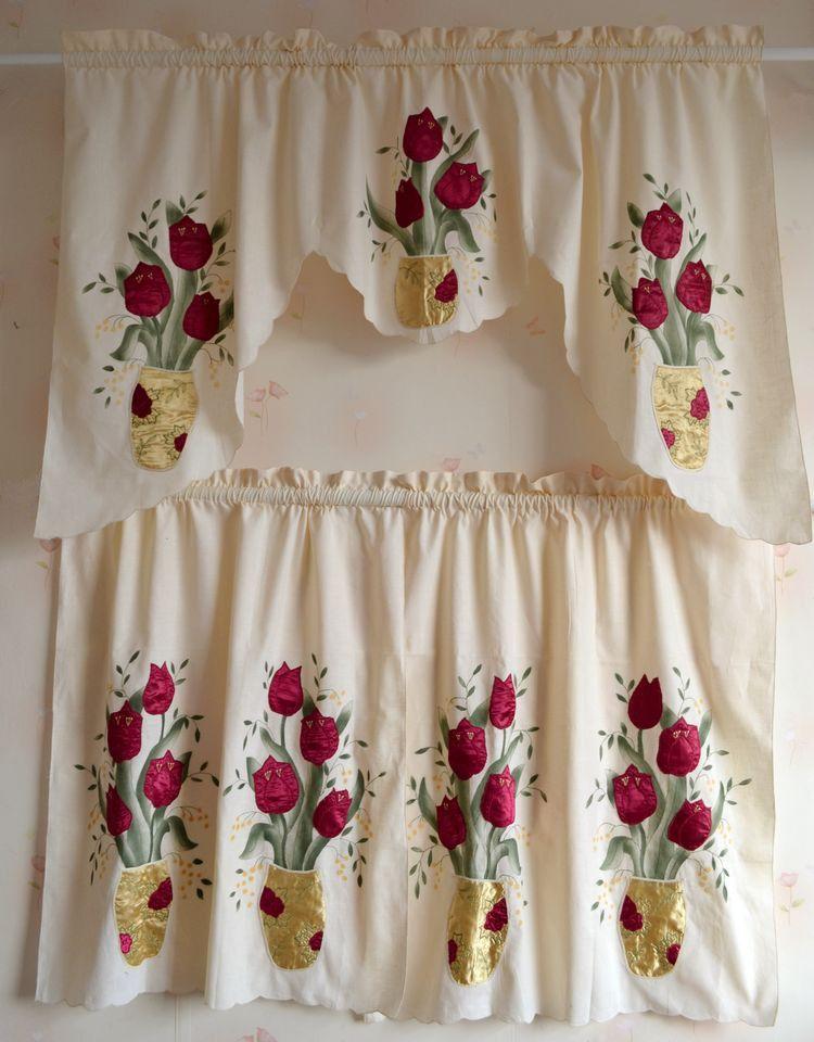 Cortinas para cocina buscar con google crochet - Tela cortinas cocina ...