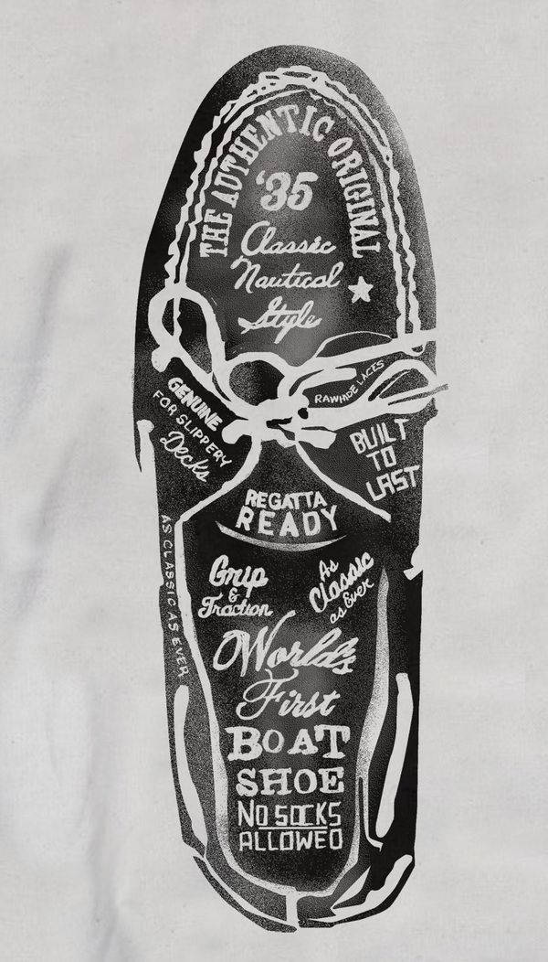 #houseoftype | Sperry Top-Sider Illustrations by Glenn Wolk, via Behance