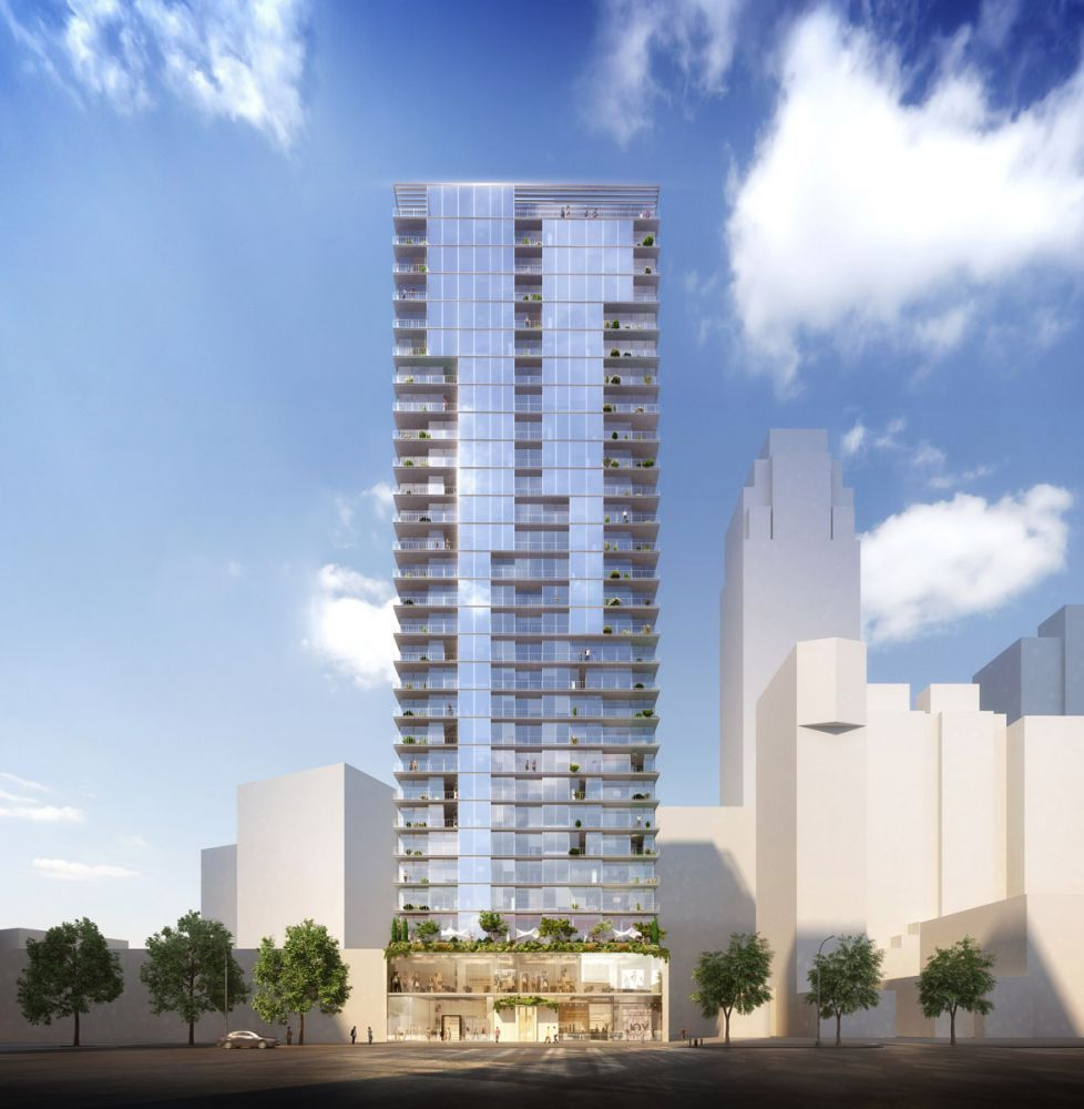 Downtown S Foreman Clark Building To Become 124: 28-Story, 150-Unit Mixed-Use Building Rises At 436 Albee