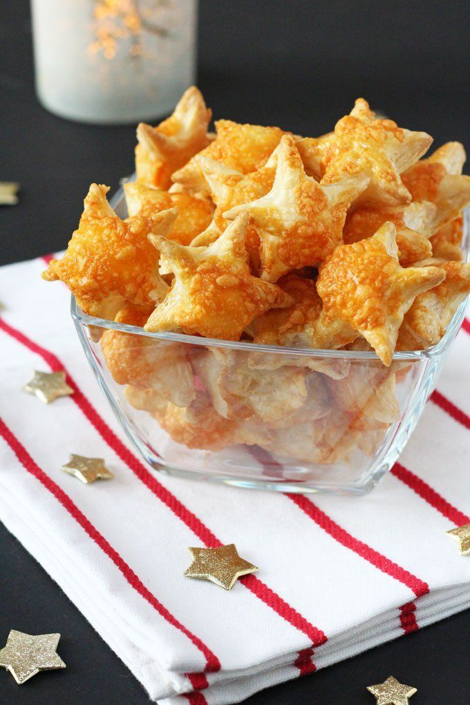 these cheesy puff pastry stars make a super easy appetizer for christmas parties and a great festive snack for kids too